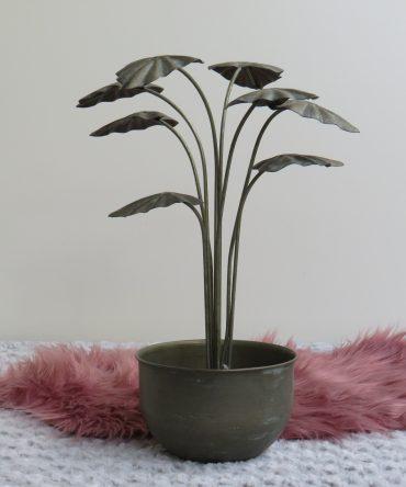 Decoratie metalen  plant