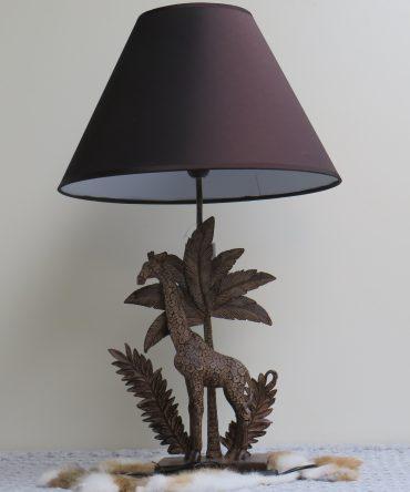 Tafellamp Giraf in de bladeren