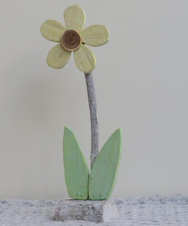 Houten bloem