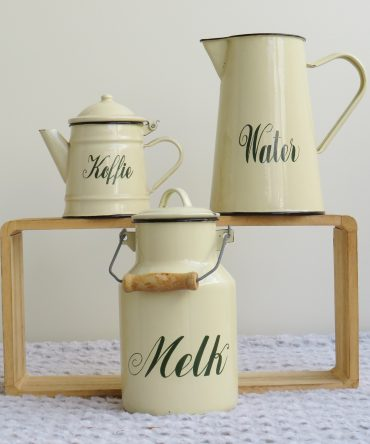 Melk/ Water/ Koffiekannen