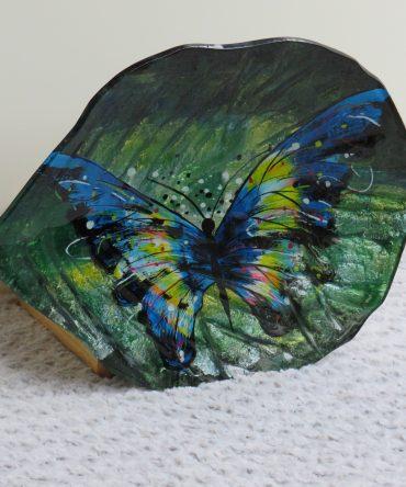 Schaal Bladvorm met Vlinder