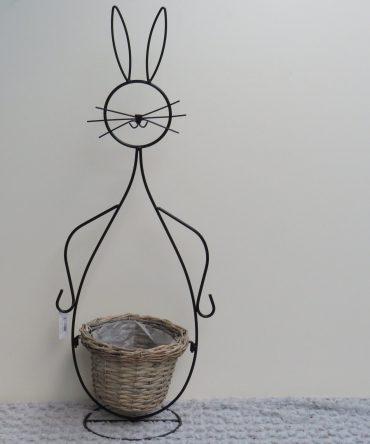 Bloempot in de vorm van een konijn/haas