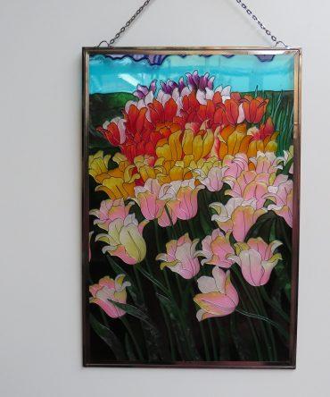 Glas in Lood Tulpen