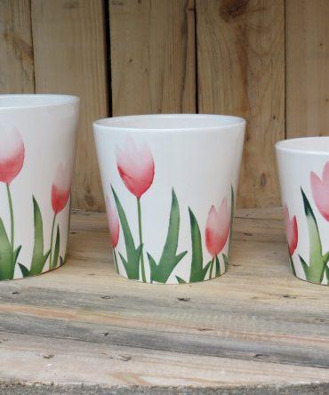 Bloempot Tulpen