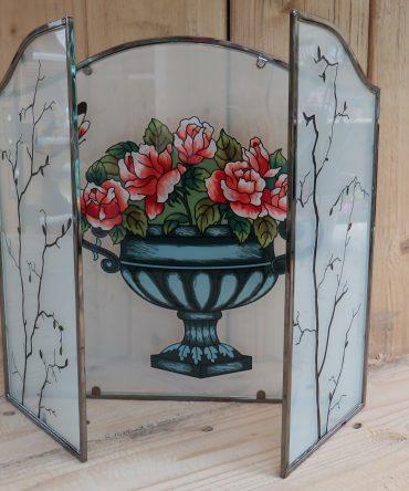 Drie luik glas in lood