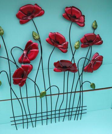 Metalen Wanddecoratie Klaprozen