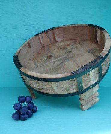 Vintage Chakki - Tafel met uitgekerfd hout